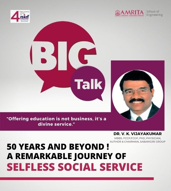 A remarkable journey of social service - Dr. Jayakumar